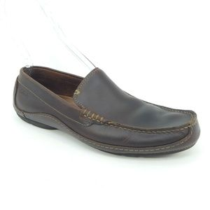 Clarks Edwin Brown Leather Driving Moc Loafers